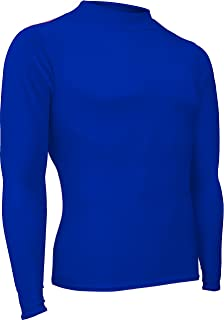 product image for HT-501L-CB Men's and Women's Athletic Form Fit, Long Sleeve Mock Neck Shirt-for Track, Volleyball, Soccer, Football, Underwear, and Outdoor Sports