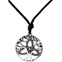 Vintage Amulet Tree of Life with Celtic Trinity Knot Pendant Necklace Gift Jewelry for Men Women