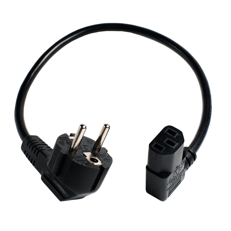 40 cm pequeñ a de alimentació n/cable para conexió n en frí o. Schuko-connettore/IEC acodado. kurzekabel kk-S28