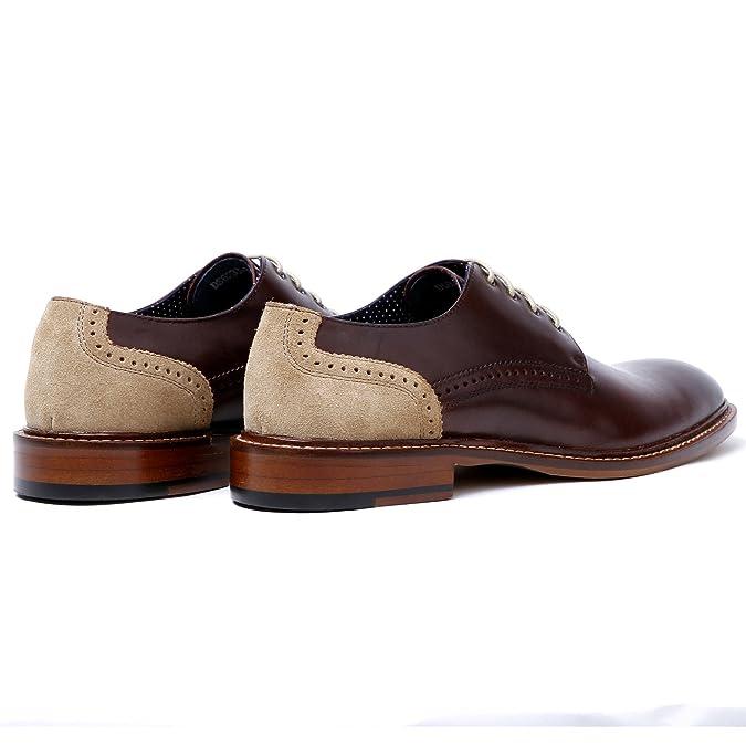 a10b55cffc Desai Zapatos de Cordones Derby Para Hombre vino  Amazon.es  Zapatos y  complementos