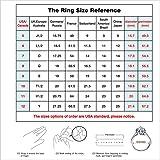 ERLUER Women's Mickey Shape Rings Sterling Silver