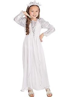 Generique - Disfraz ángel Blanco niña M 7-9 años (120-130 cm ...