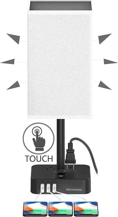 Amazon.com: Alimentata Lámpara de mesa con control táctil ...