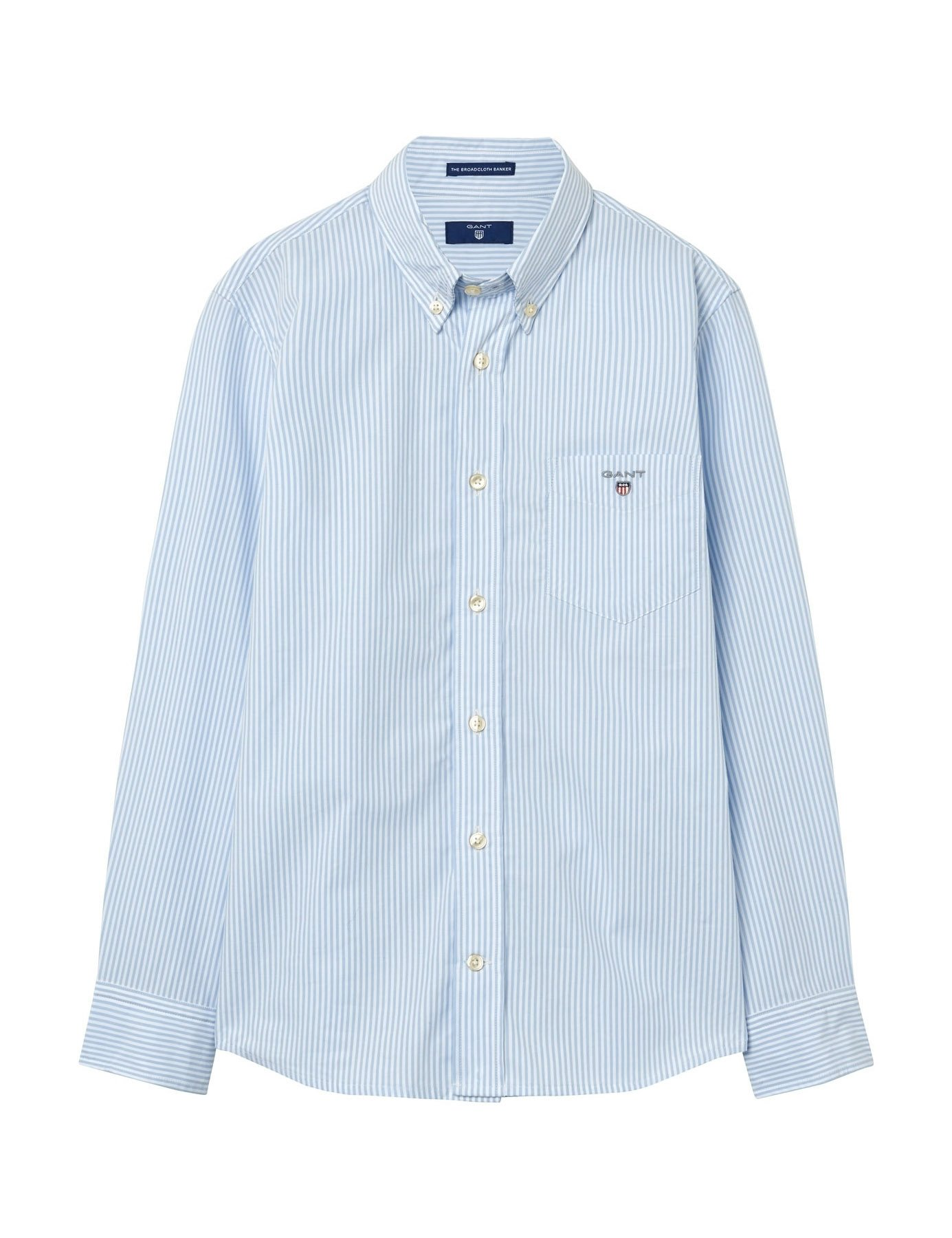 Gant Boy's Blue Stripped Shirt in Size 13-14 Years (158-164 cm) Blue by GANT