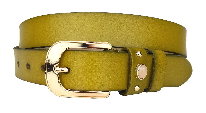 Ella Jonte ceinture femme vert en cuir avec boucle à ardillon 2,8 cm largeur   Amazon.fr  Vêtements et accessoires 0fba54fecda