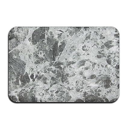 Amazoncom Haidilun Gray White Marble Bathroom Rugs Non Slip Bath