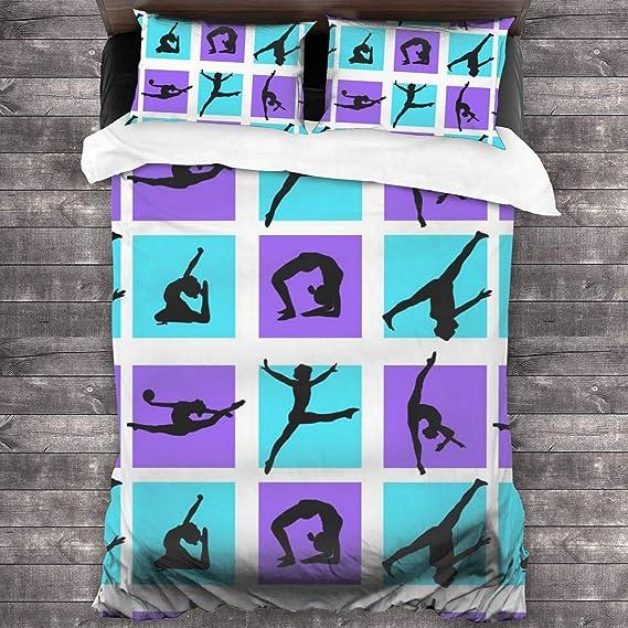 DCBAPRJKE Fire Horse 3 Piece Printed Bedding Set,Soft Lightweight Cotton 3 Piece Bed Sheet Setfor,1 Quilt and 2 Pillow