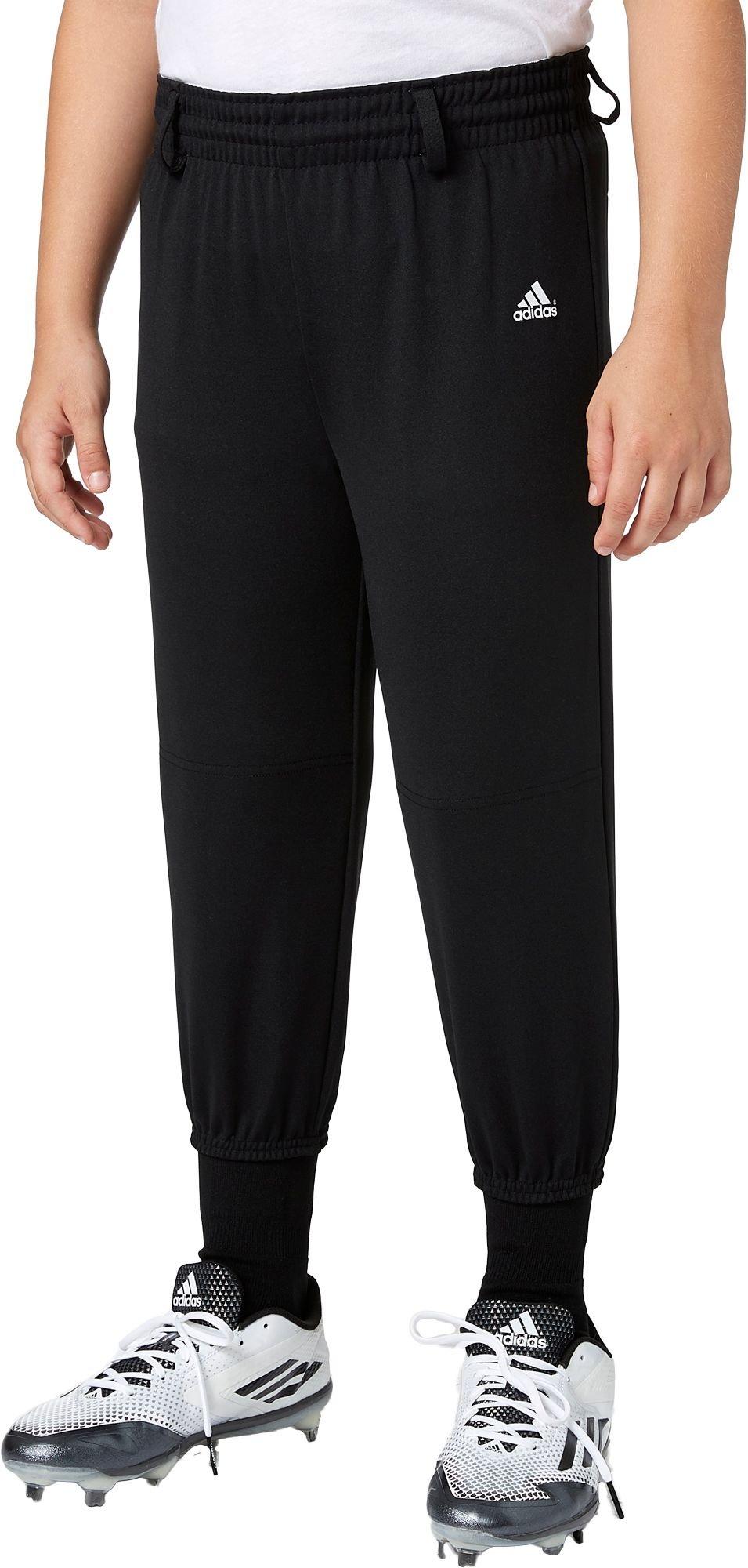 Adidas Boys' Triple Stripe Pull Up Baseball Pants (Black, XS) by adidas
