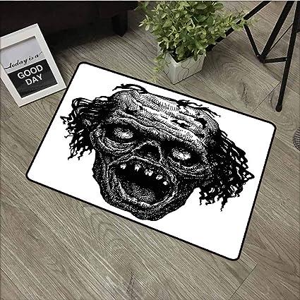 Amazon.com: LOVEEO Felpudo de bienvenida para Halloween ...