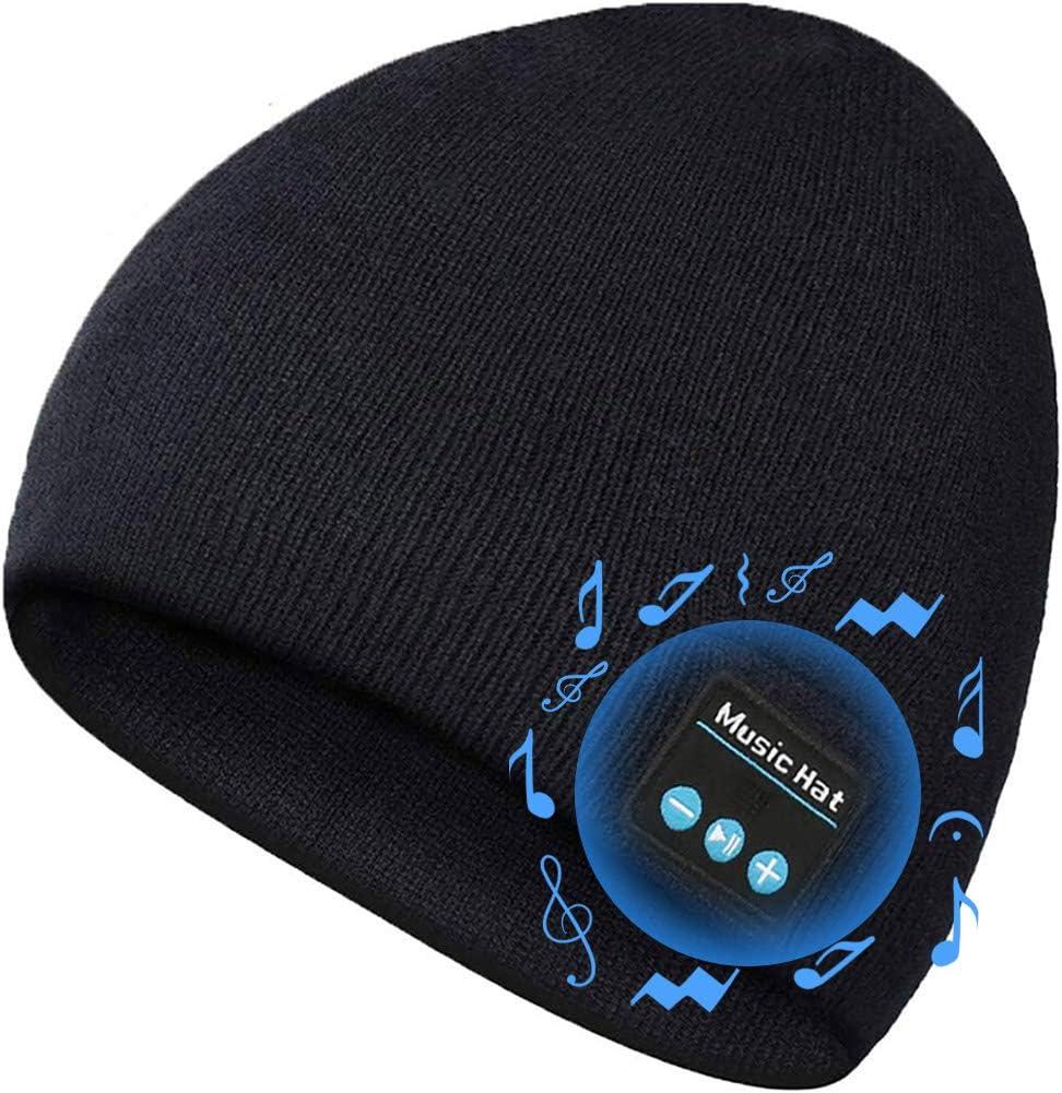 JYPS Cappello Bluetooth Music Hat Inverno Lavorato a Maglia Berretto Beanie con Cuffia Stereo Speaker per Corsa Sport allAria Aperta Sci Escursionismo Giorno del Ringraziamento Regali di Natale