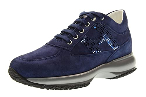 4b131a0a70db1 Hogan Scarpe Donna Sneakers Basse HXW00N0X290CR0U800 Interactive Taglia  35.5 Blu  Amazon.it  Scarpe e borse
