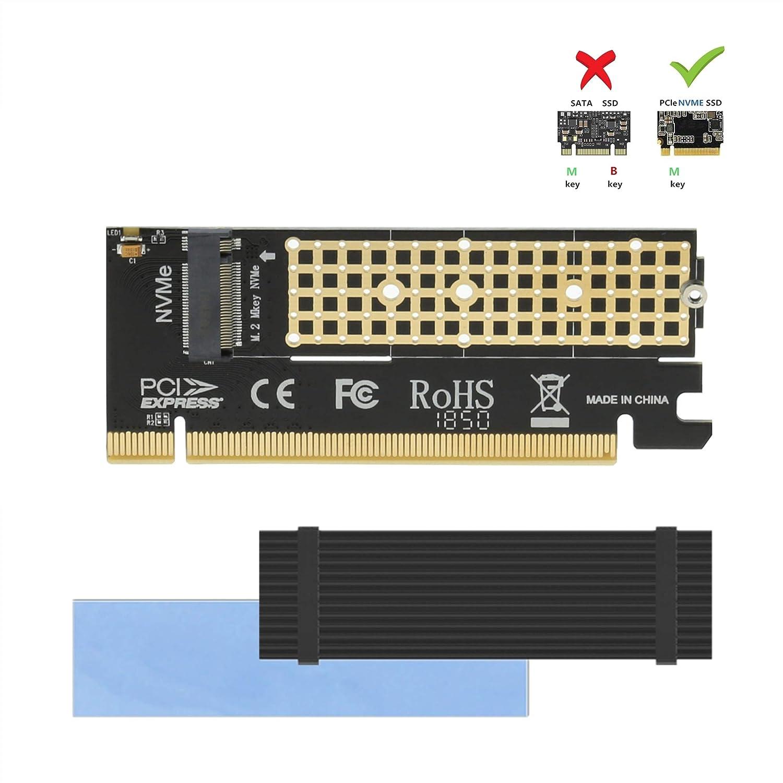Adaptador Nvme Con Disipador Para M.2 Nvme A Pcie 3.0 X16