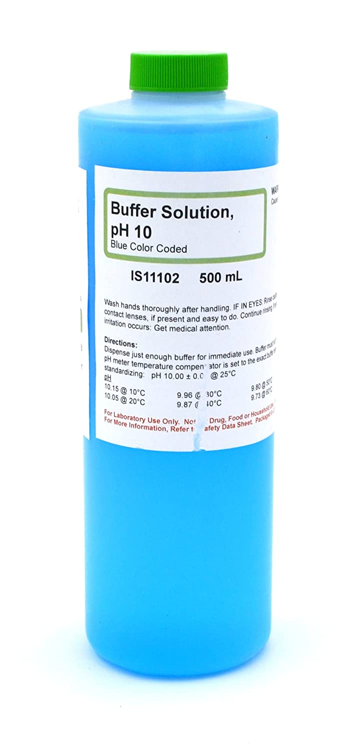 10.00 pH Standard Buffer Solution, Blue, 500mL - The Curated Chemical Collection