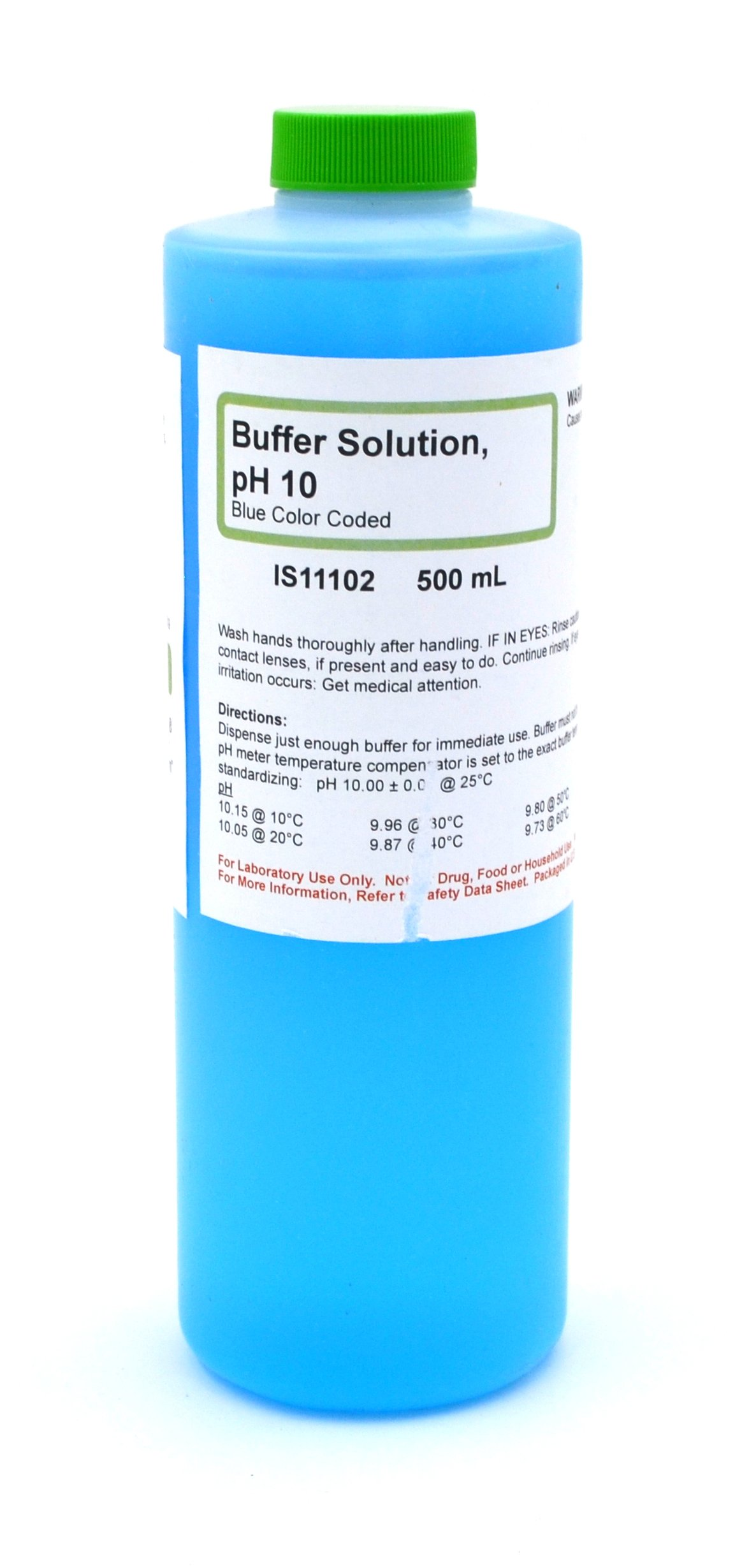 Standard Buffer Solution, pH 10, 500mL - The Curated Chemical Collection