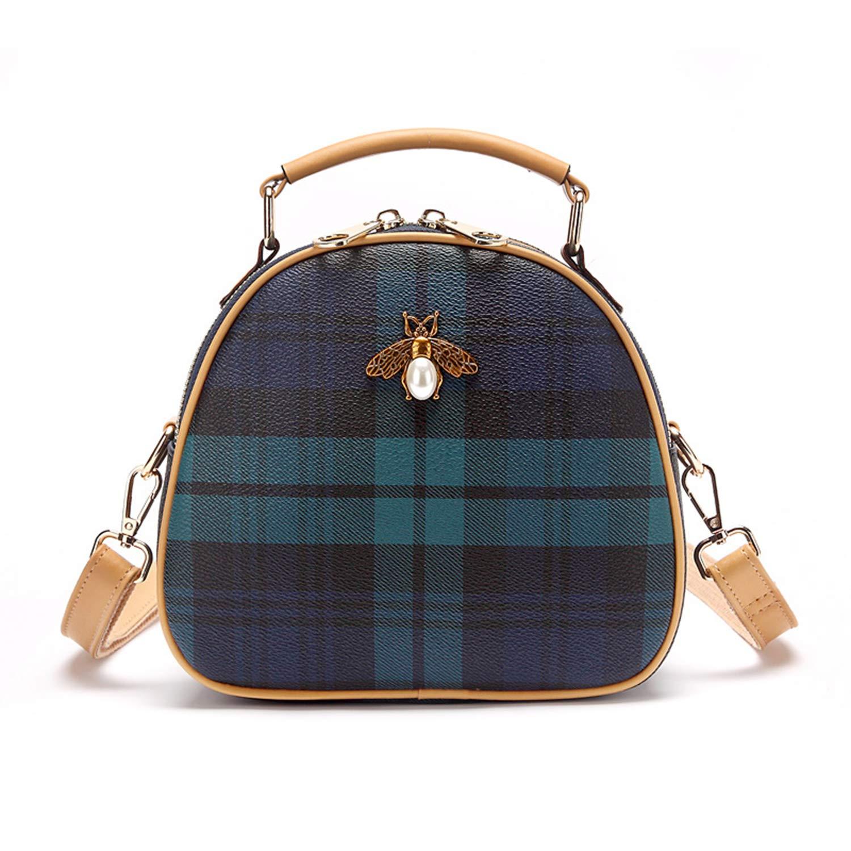 7eaa4c10c4df Small Crossbody Bags for Women Shoulder Bag Stylish Ladies Messenger Bags  Purse and Handbags (Lattice Blue)