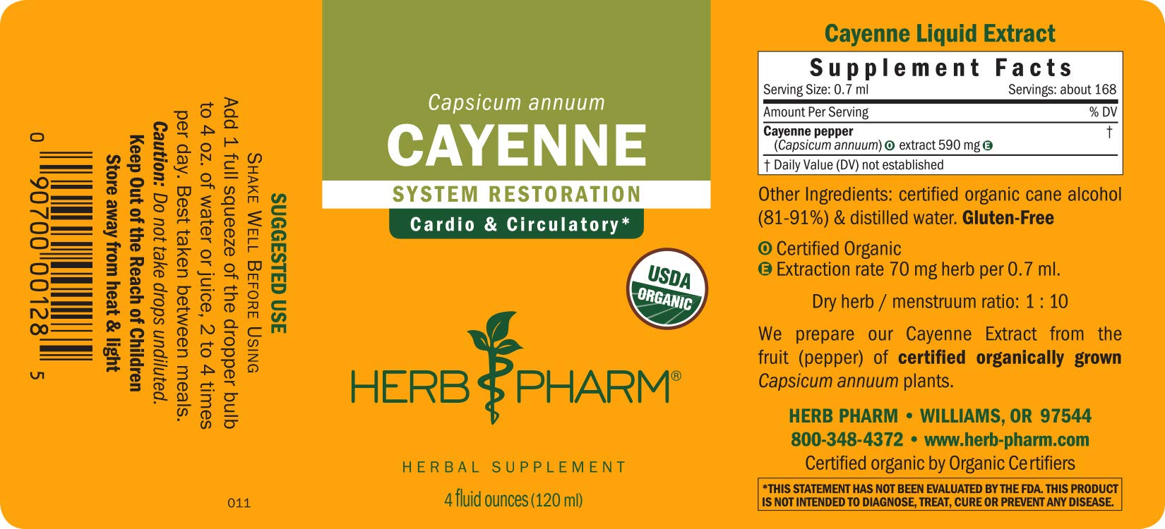 Herb Pharm Certified Organic Cayenne Liquid Extract for Cardiovascular and Circulatory Support - 4 Ounce by Herb Pharm (Image #6)