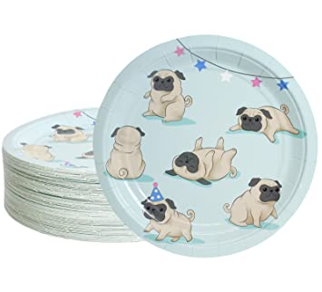 Amazoncom Disposable Plates 80 Count Paper Plates Dog Party