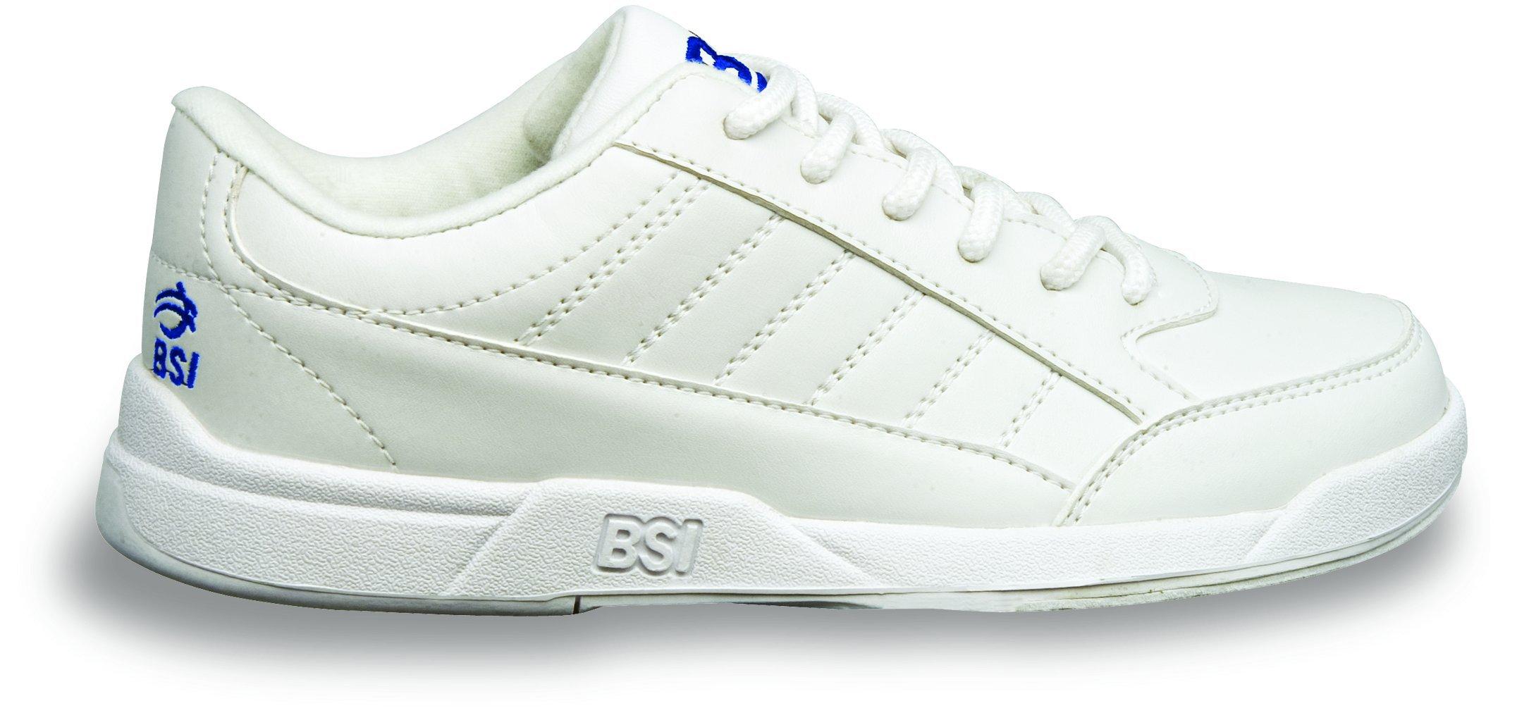 BSI Boy's Basic #532 Bowling Shoes, White, Size 4.0
