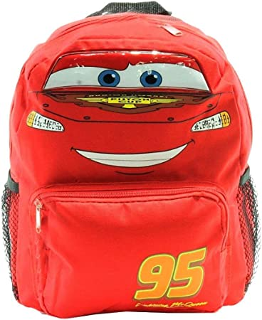 "Disney Pixar Cars Lightning Mcqueen 12/"" backpack Face"