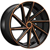 Rosso Insignia 22 Black Bronze Wheel / Rim 5x4.5 & 5x120 with a 40mm Offset and a 73.1 Hub Bore. Partnumber 7082281740BC