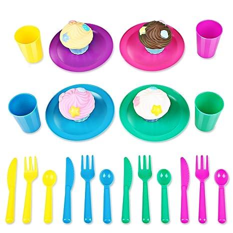 Peradix Cucina Bambini Set Accessori Piatti Cupcake Tazzine ...