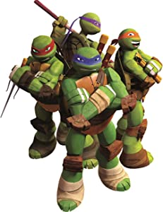 "8"" Donatello Donnie Leonardo Leo Michelangelo Mikey Raphael Raph Turtle TMNT Teenage Mutant Ninja Turtles Removable Peel Self Stick Wall Decal Sticker Art Kids Decor Boys Room 6 1/2 x 8 1/2 inches"