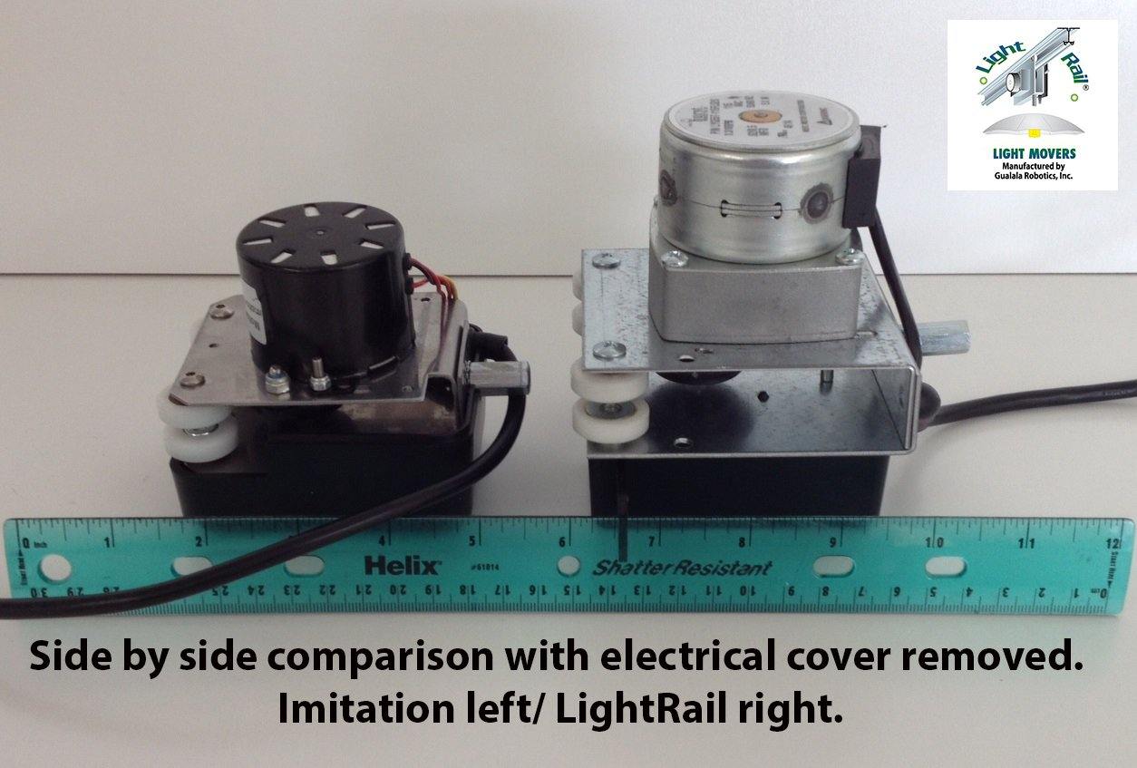 (2) Light Rail 3.5 Kit Motor w/ Rail, Light Mover Genuine Solidly Made in USA by LightRail