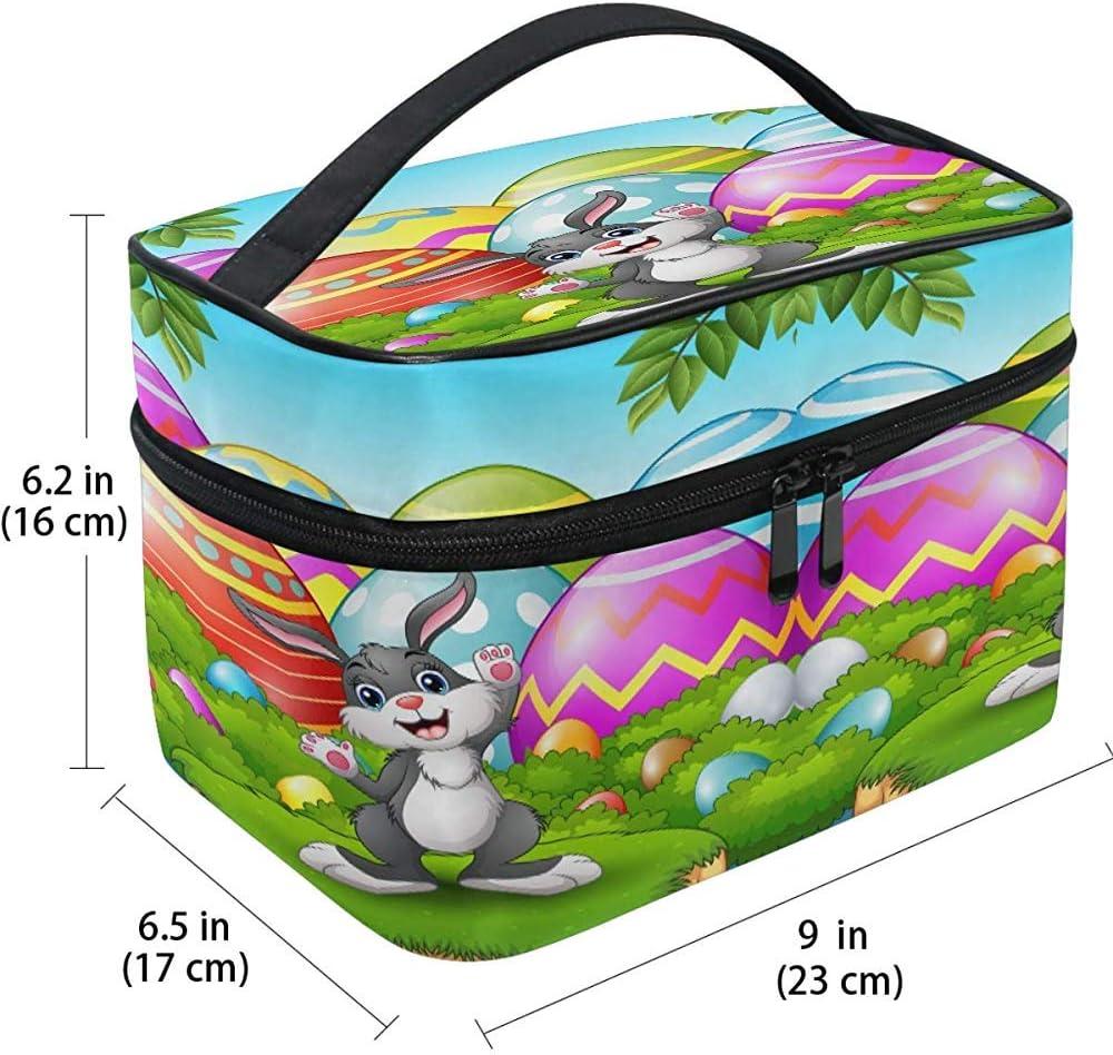 Bolso cosmético Conejo Huevos de Conejo Maquillaje de Pascua Estuche de Tren con Cremallera portátil Bolsa de Cepillo cosmético Almacenamiento Grande: Amazon.es: Equipaje