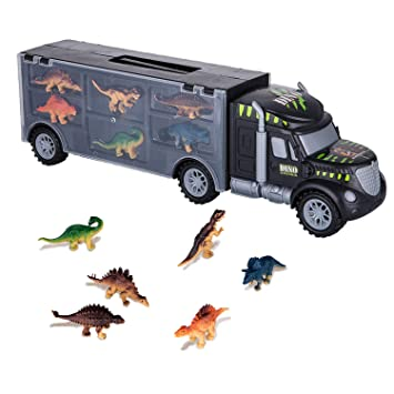 Dinosaurs Transport Toy Piezas Truck Astotsell Car 6 Con Carrier 29YIEHWeD