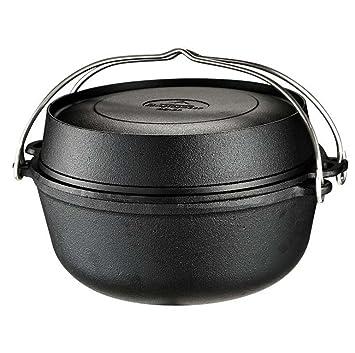 Amazon.com: gjx holandés olla, olla de hierro, apto para ...