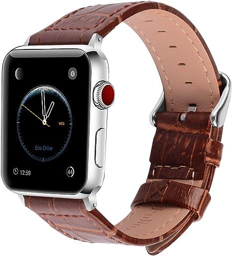 2 Colores para Correa Apple Watch, Fullmosa®Bambu Cuero iWatch ...