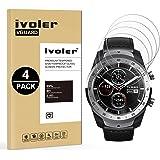 iVoler [4 Pack] Pellicola Vetro Temperato per TicWatch PRO Smartwatch [Garanzia a Vita], Pellicola Protettiva, Protezione per Schermo