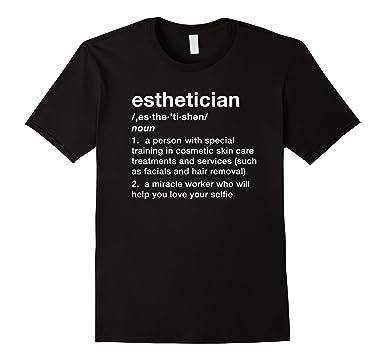 Superior Mens Funny Esthetician Definition Shirt 2XL Black