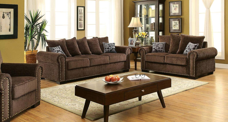 Amazon.com: Esofastore Living Room Furniture 3pc Sofa Set ...