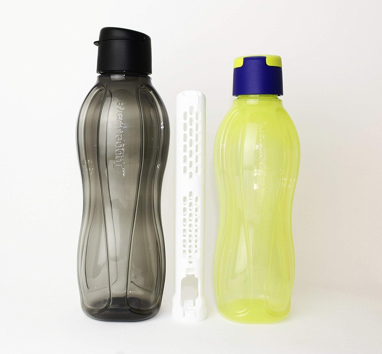 TUPPERWARE To Go Eco 500 ml dunkelblau Clipverschluss Trinkflasche Öko Ecoflasch