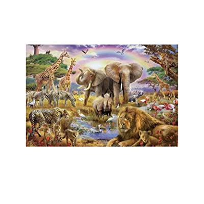 7-Mi Wood Jigsaw Puzzles 1000 Pieces for Adults Kids-Animal World, Every Piece is Made of Basswood, Softclick Technology Means Pieces Fit Together Perfectly: Toys & Games