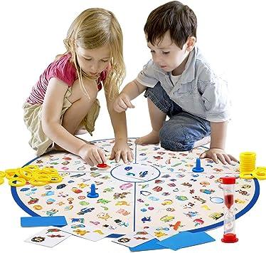 Juego de Mesa Familiar para niños, Juego de Cartas Little ...
