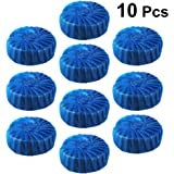 SUPVOX 10pcs Antibacterial Blue Automatic Toilet Bowl Bathroom Cleaner Tablets