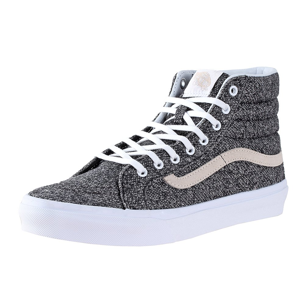 Vans Unisex Sk8-Hi Slim Black True White Sneaker - 4