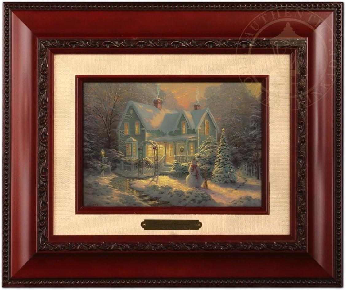 Thomas Kinkade Blessings of Christmas Brushwork (Brandy Frame)