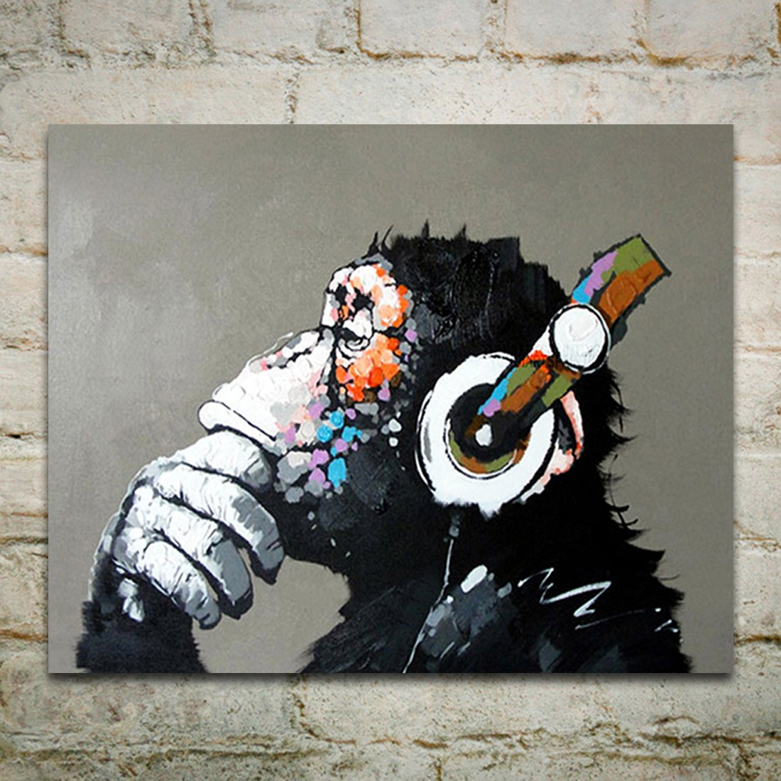 Amazoncom Muzagroo Art Oil Paintings Listen to