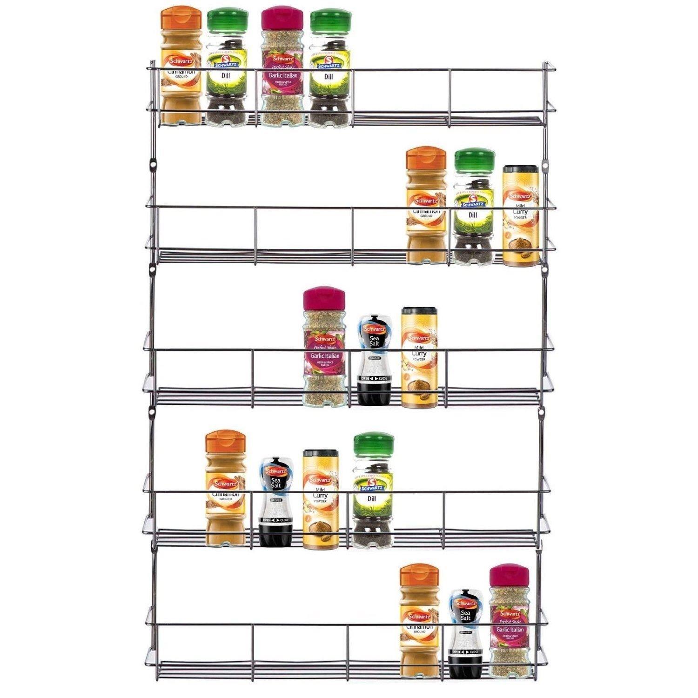 3Etagen Spice Herb Rack für Küche Tür Schrank Speicher oder Wand Top Home