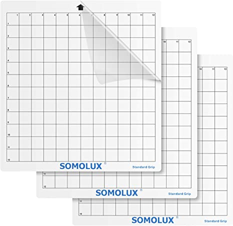 Standard-Grip Cutting Mat 12/×8 3Pcs by Somolux Clear Silhouette Electronic Die Cutting Machine Replacement Suit for Cricut