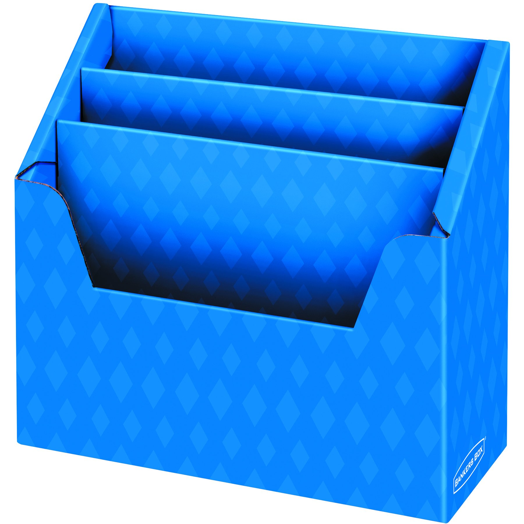 3 Compartment Folder Holder, 12''H x 13 3/4''W x 5 5/8''D, Blue