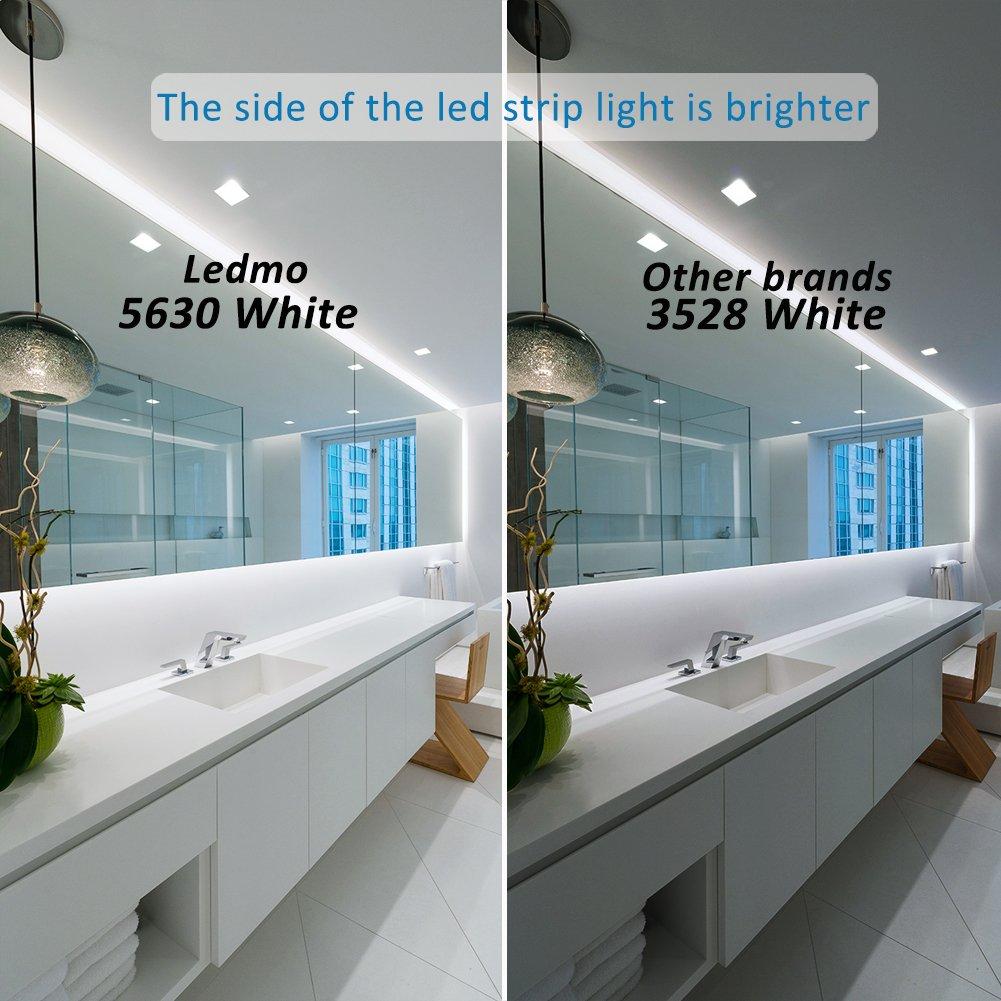 Ledmo led light strip smd5630 dc12v 164ft 5m 300leds waterproof ledmo led light strip smd5630 dc12v 164ft 5m 300leds waterproof ip65 flexible daylight led strip light 25lmled 2 times brightness than smd5050 led mozeypictures Choice Image