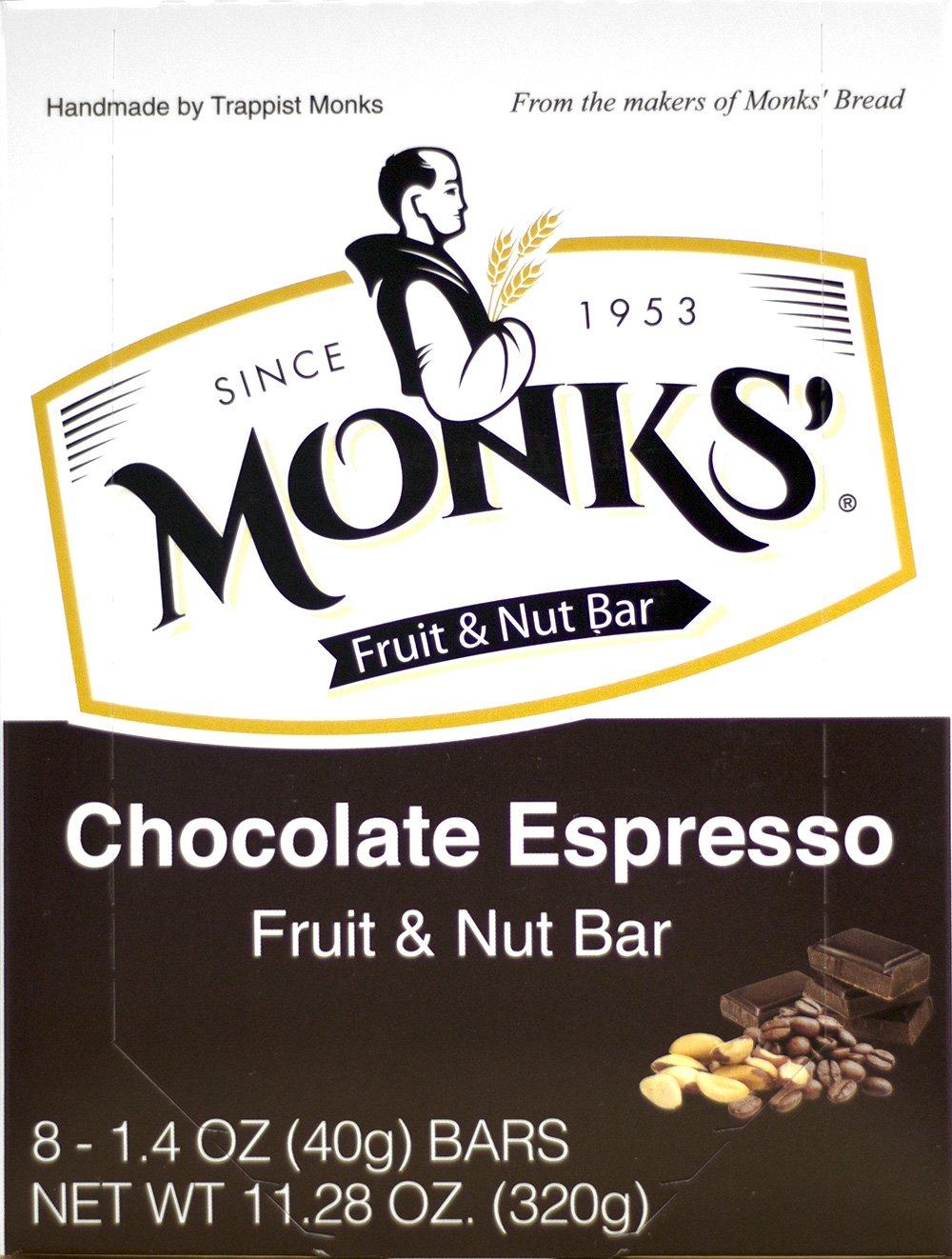 Monks' Chocolate Espresso Fruit & Nut Bars