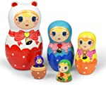 Russian Nesting Dolls 5 Pieces Matryoshka Doll for Kids Christmas Decorations