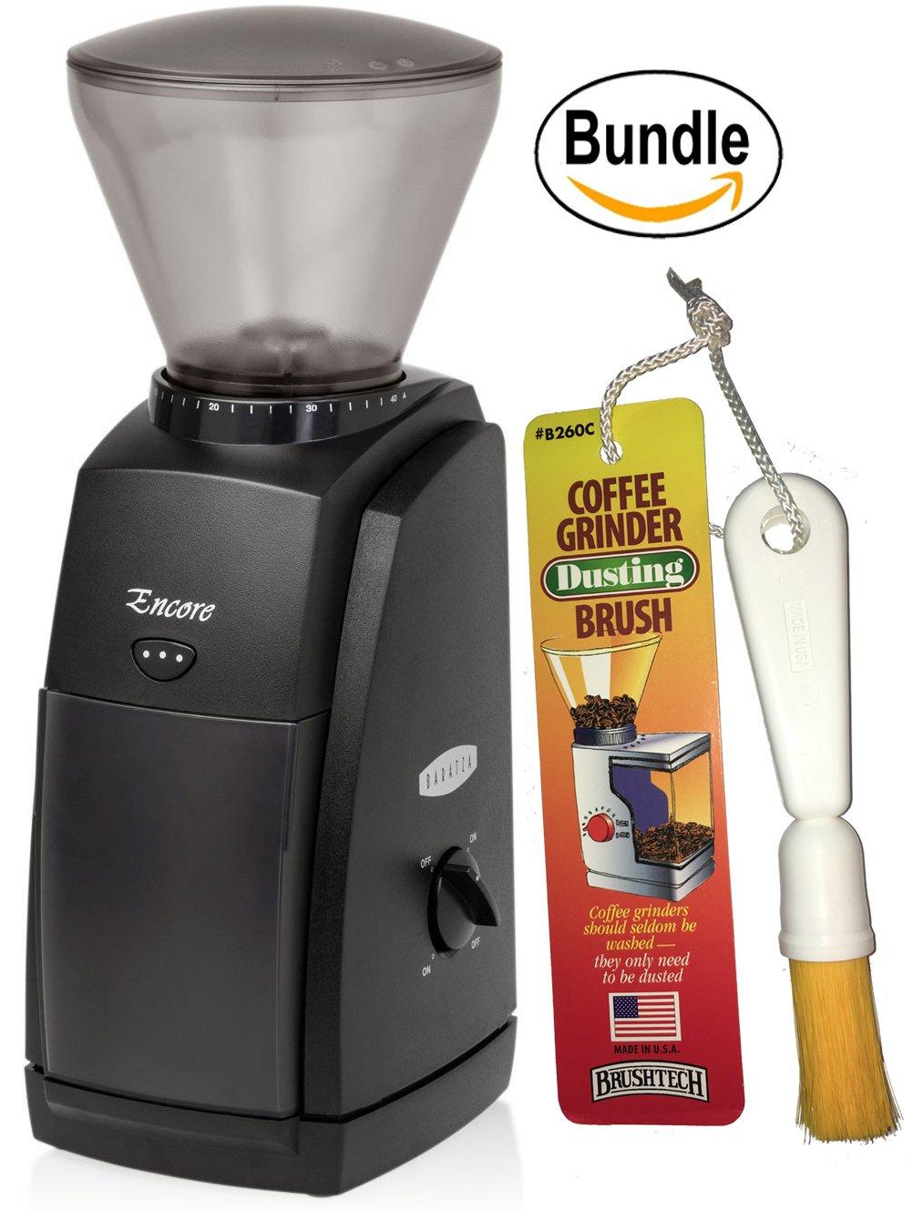 Baratza Encore 485 Conical Burr Coffee Grinder & Brushtech Coffee Grinder Dusting Brush (Bundle)