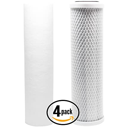RO//DI RO System Includes Carbon Block Filter /& PP Sediment Filter Brand Denali Pure 3-Pack Replacement Filter Kit for Seachem Pinnacle