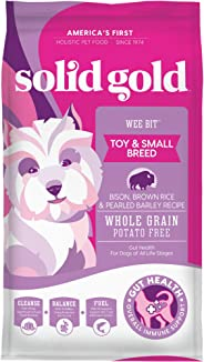 Solid Gold - Wee Bit With Real Bison, Brown Rice & Pearled Barley - Potato Free - Fiber Rich with Probiotic Support - Holist